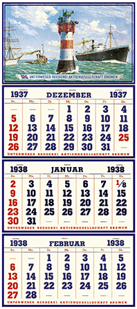 The invention of the 3-month-calendar