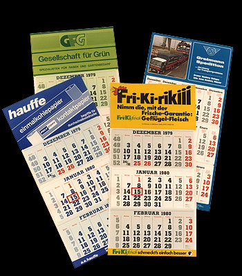 From the Shipping Calendar from Bremen to a Range of Promotional Calendars Successful in the whole world