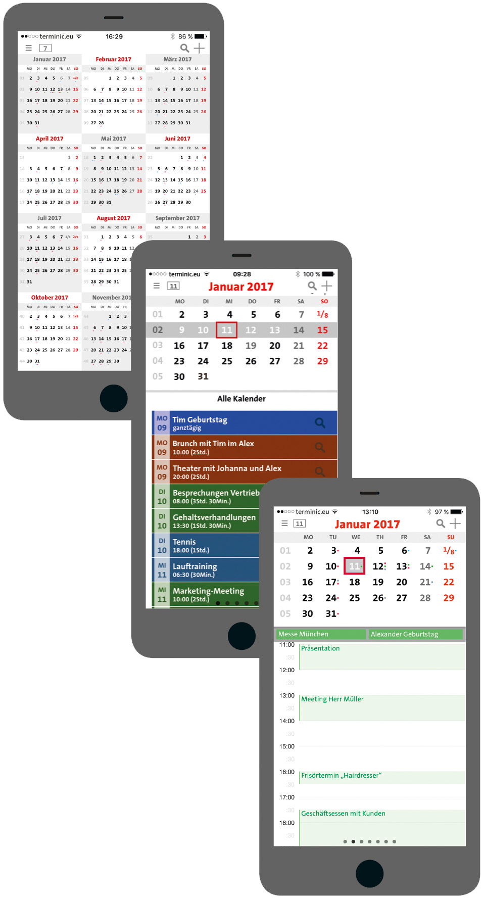 Monthly Calendar App : Terminic month calendar app for ios and