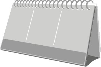 terminic Tischkalender Zeltkalender Focus