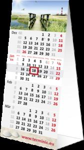 terminic Tischkalender Tischplaner Quadro Muster Leuchtturm