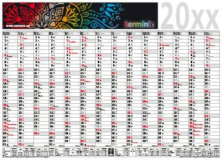 Plakatkalender mit Werbung - Das Top 14 Modell 90-65 von terminic im bunten Mandala Design